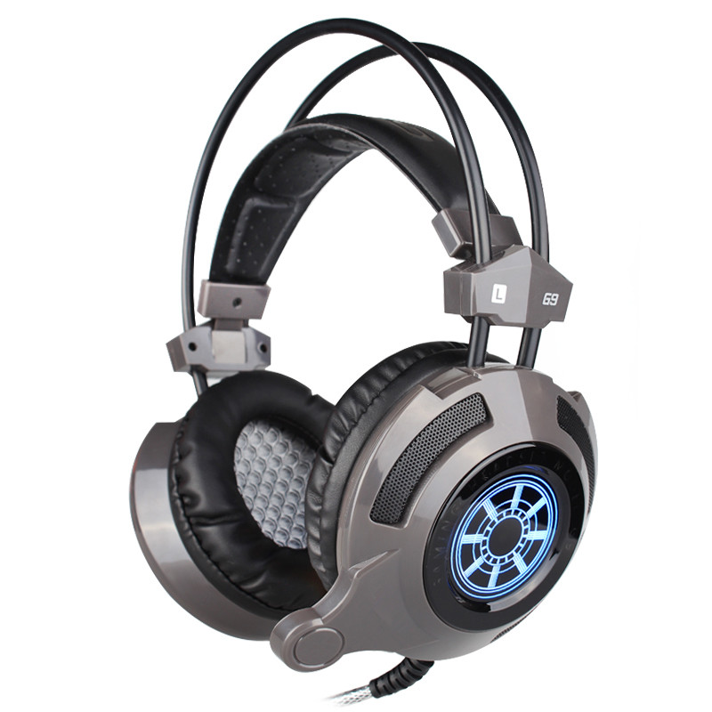 G9 Professional Gaming Headphones Stereo Music Headphone Headset with Mic LED Light Surround Bass 50MM speaker for Internet cafe rock y10 stereo headphone earphone microphone stereo bass wired headset for music computer game with mic