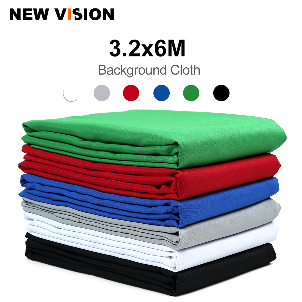 3 2x6m 3200 x 6000mm Black Green White Blue Red Gray Mixed Non woven Fabric Photo