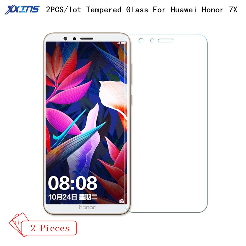 2PCS/lot Tempered Glass For Huawei Honor 7X Protect smartphone Screen Protector HD film On Mobile Phone Honor 7 X