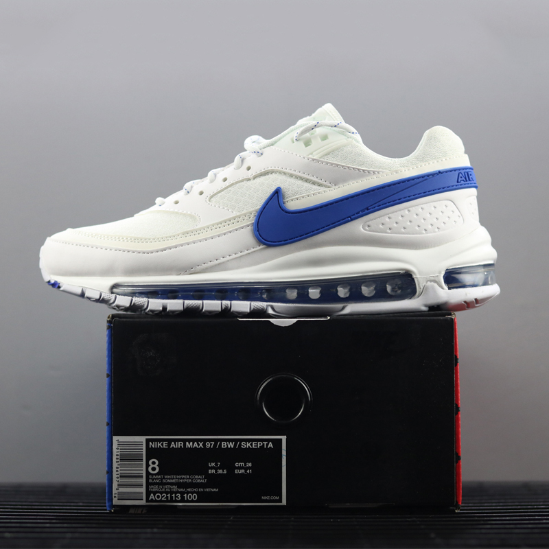 quality design f8412 c9cce Nike Air Max 97 BW X Skepta Men's Running Shoes Shock-Absorbing Breathable  Sneakers Non-Slip Lightweight #AO2113-100