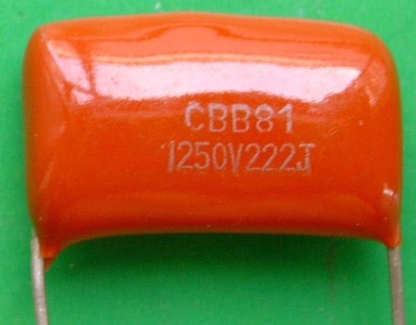 Free Delivery.CBB81 metallized polypropylene film capacitor is 1250 V 2220.0022 University of Florida