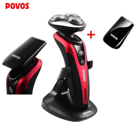 HOT POVOS Factory Direct Sale Rechargeable electric shaver for men shaving triple blades 4D Waterproof Razor PQ9201