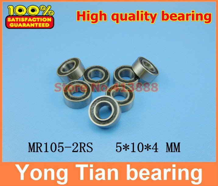 (1pcs) High quality double rubber sealing cover miniature deep groove ball bearing MR105-2RS <font><b>5*10*4</b></font> mm image