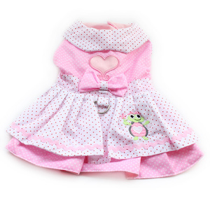 Image 3 - Armi store Dog Dresses Pink Princess Dress For Dogs 6071054 Pet Clothing Supplies ( Dress + Hat + Panties + Leash = 1set