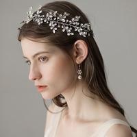 Dower me Bridal Hair Accessories Gold Silver Rhinestone Wedding Tiara Headband Fashion Women Prom Hair Crown Jewelry