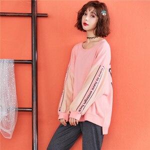 Image 4 - JRMISSLI pyjama 2 pièces rose, vêtements de nuit en pur coton, costume pour femme, nouvelle collection printemps Pullover décontracté