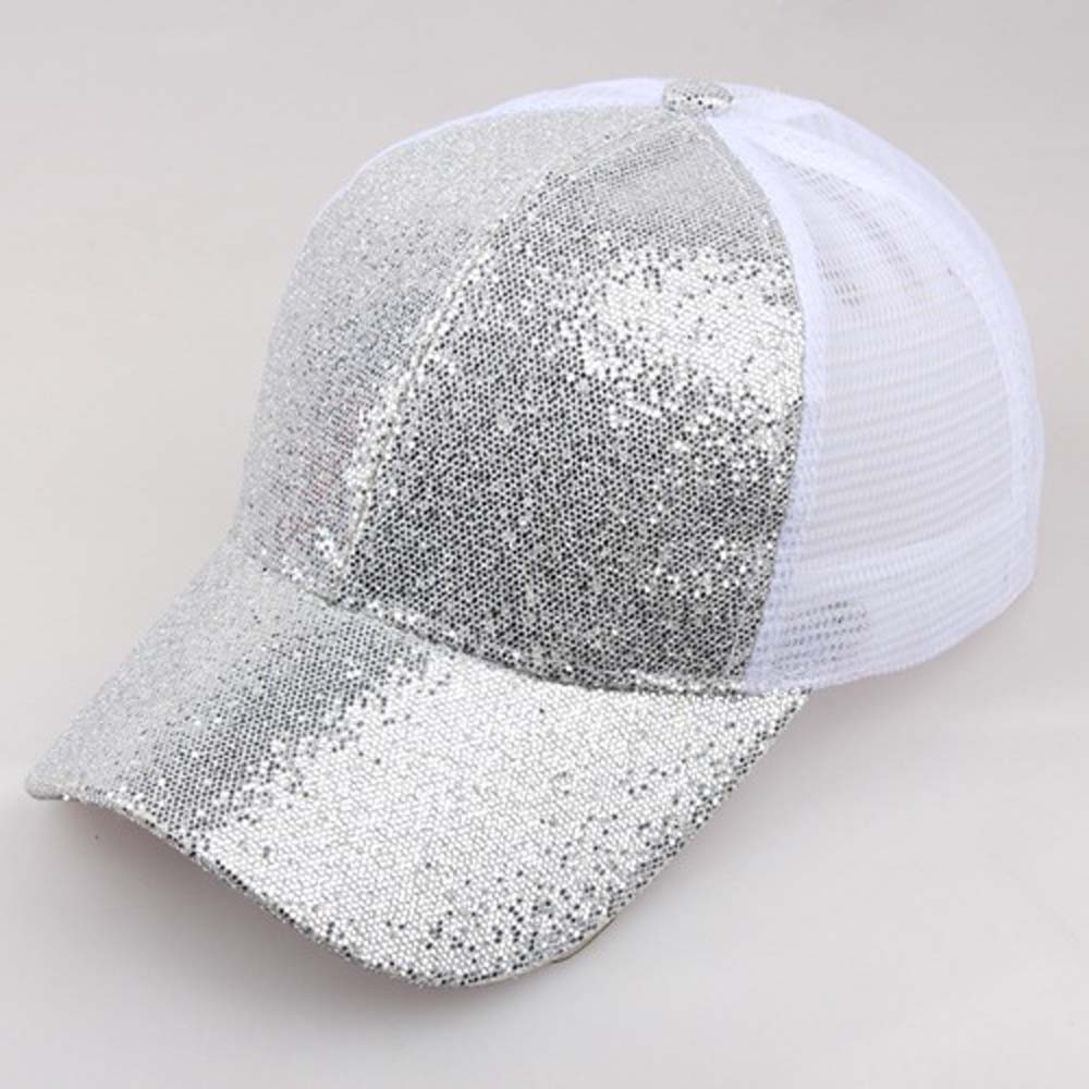 35588022 Hot Sale] Glitter Ponytail Baseball Cap Women Snapback Summer Mesh ...