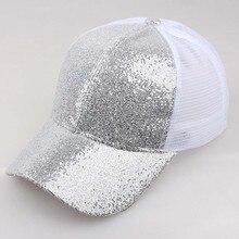 Женская Бейсболка, летняя, для девушек, конский хвост, блестящая Кепка, Солнцезащитная шляпа, для девушек, для улицы, шляпа бренда Gorra hombre