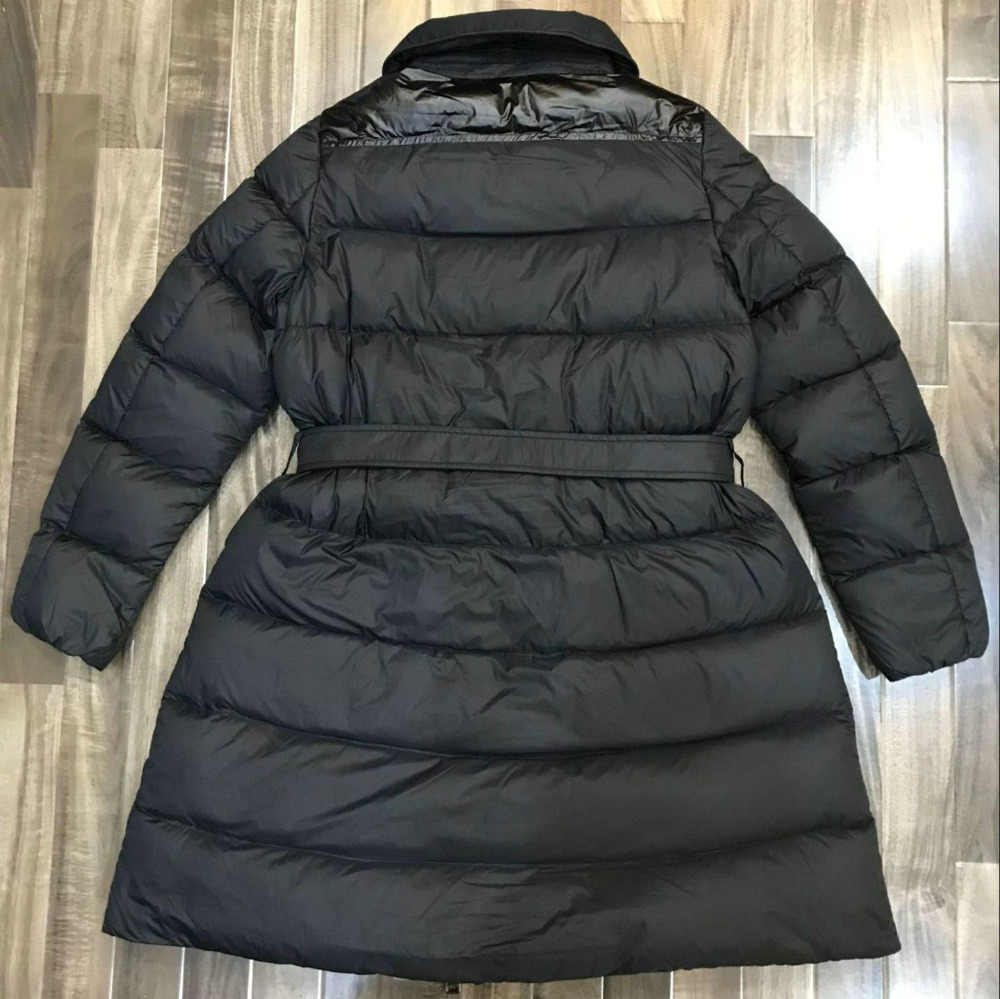 3b46ac07555 ... 2019 New Women Winter Thick Warm 90% White Duck Down Coats Lady Slim  Fit Long ...
