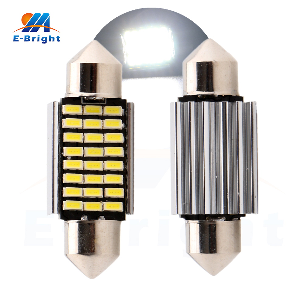 4-200pcs 36mm Festoon C5W Canbus 3014 24 SMD LED Bulbs Light Pate Number Light Ceiling L ...