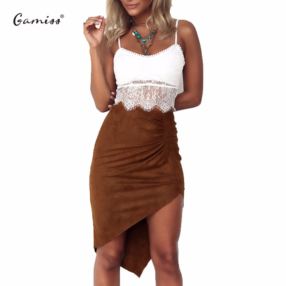 Online Get Cheap Irregular Mini Skirt Solid Suede -Aliexpress.com ...