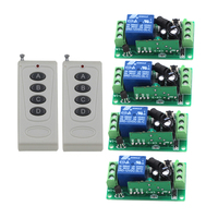 Long Distance RF Switching 2 Remote Control & 4 Receiver Wireless 220V Remote Control Switch System