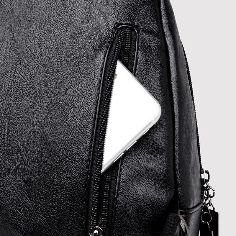 HTB13XjglmMmBKNjSZTEq6ysKpXal Women Leather Backpacks Zipper Female Chest Bag Sac a Dos Travel Back Pack Ladies Bagpack Mochilas School Bags For Teenage Girls