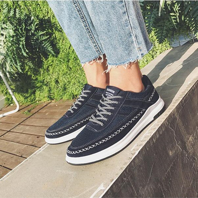 569312dacd8 Men Shoes 2018 Summer Breathable Lace-up Light Sneakers travel Casual Slip  on shoes men tenis masculino Non-slip Comfortable