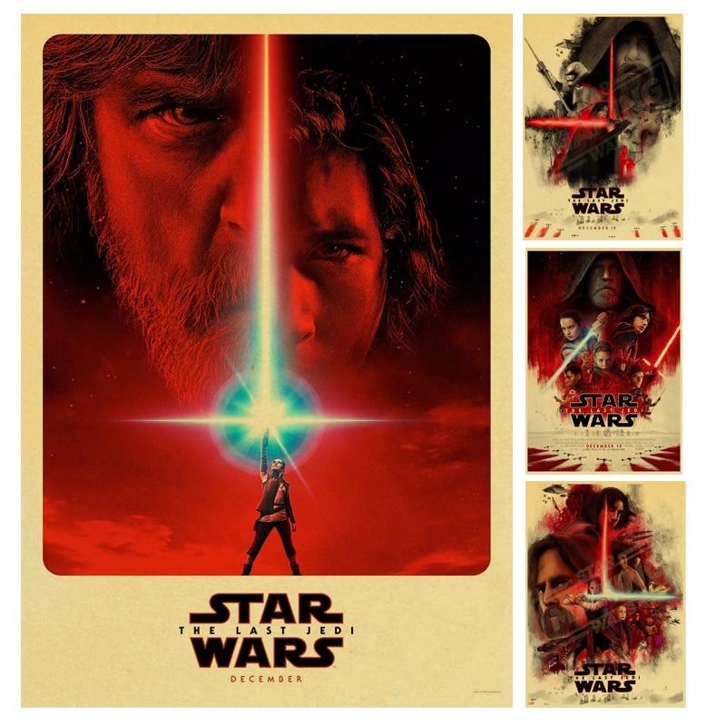 Star Wars 8 Posterr The Last Jedi Kraft Paper Retro Poster