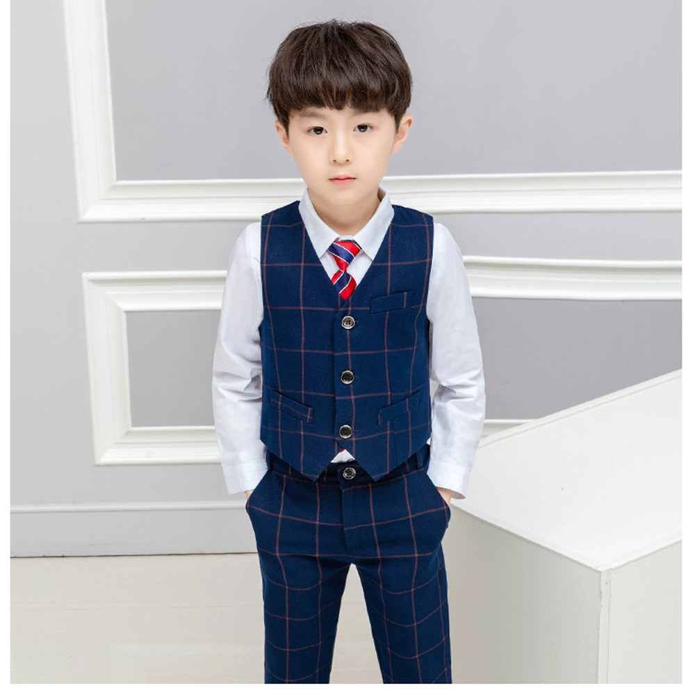dcaf34c6a Baby Boys Formal Blazer Suits for Weddings Toddler Jacket+Blouse+ ...