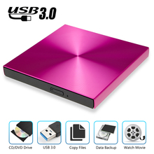 USB3.0 DVD Burner External DVD Reader CD-ROM Player Optical Drive For MAC OS/MacBook/Apple laptop/WIN 10/8/7/XP/linux цены