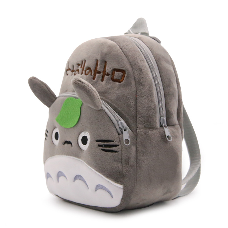 Baby Kindergarten Cartoon School Bags Cute Totoro Plush Backpacks For Kindergarten Boys Girls Lovely Candy Bag toys lanso 1 pcs cute plush cartoon backpack kindergarten boys girls cute elephant infant school bags doll toys backpacks for kids