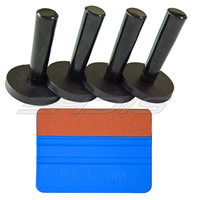 Window Tinting Tool 4 Pieces Gripper Magnet Holder And 1 Piece 3M Felt Squeegee For Car