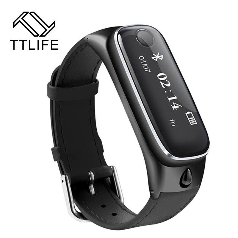 2016 TTLIFE M6 Smart Watch Bracelet Sports Smartband Bluetooth 4 0 Headsets Sleep Monitor Fitness Tracker