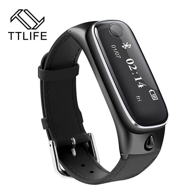 2016 ttlife m6 smart watch pulsera smartband deportes bluetooth 4.0 auriculares sleep monitor de rastreador de ejercicios para ios android teléfono