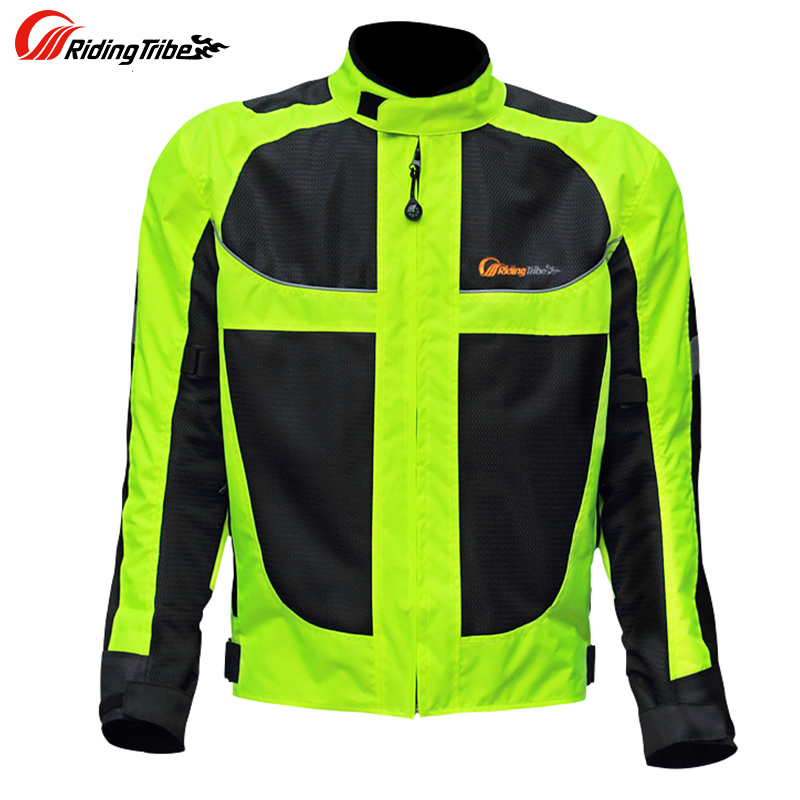 Men motorcycle racing jackets male motorcycle racing protective clothing drop resistance summer breathable Reflective clothes