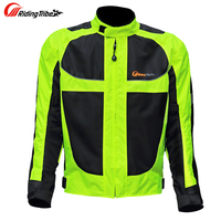 Men Motorcycle Racing Jackets Male Motorcycle Racing Protective Clothing Drop Resistance Summer Clothes Breathable Reflective