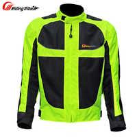 Mężczyźni motocyklowy wyścigowy kurtki mężczyźni konna siateczka ochronna motto żółwie wyścigi odzież ochronna oddychająca odzież odblaskowa