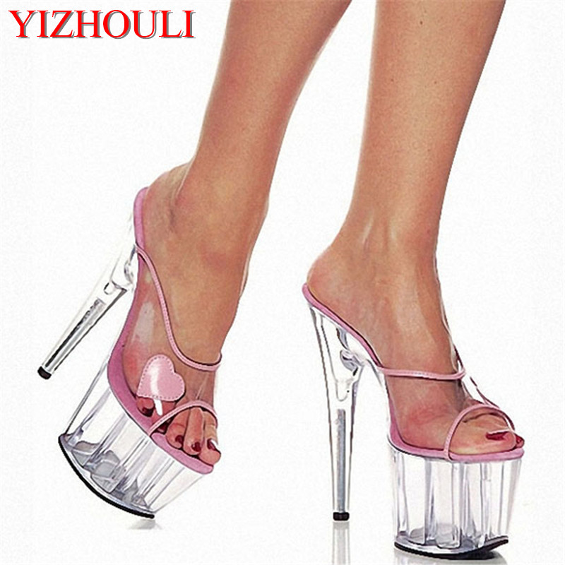 e8400b7e391 US $43.55 33% OFF|Crystal platform 15 cm high with queen's shoes, sandals  Clubs appeal performance Dance Shoes-in Dance shoes from Sports & ...