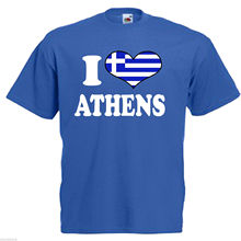 Stranger Things Design T Shirt 2018 New Letter Printing I Love Heart Athens  Greece Adults Mens c24217af583