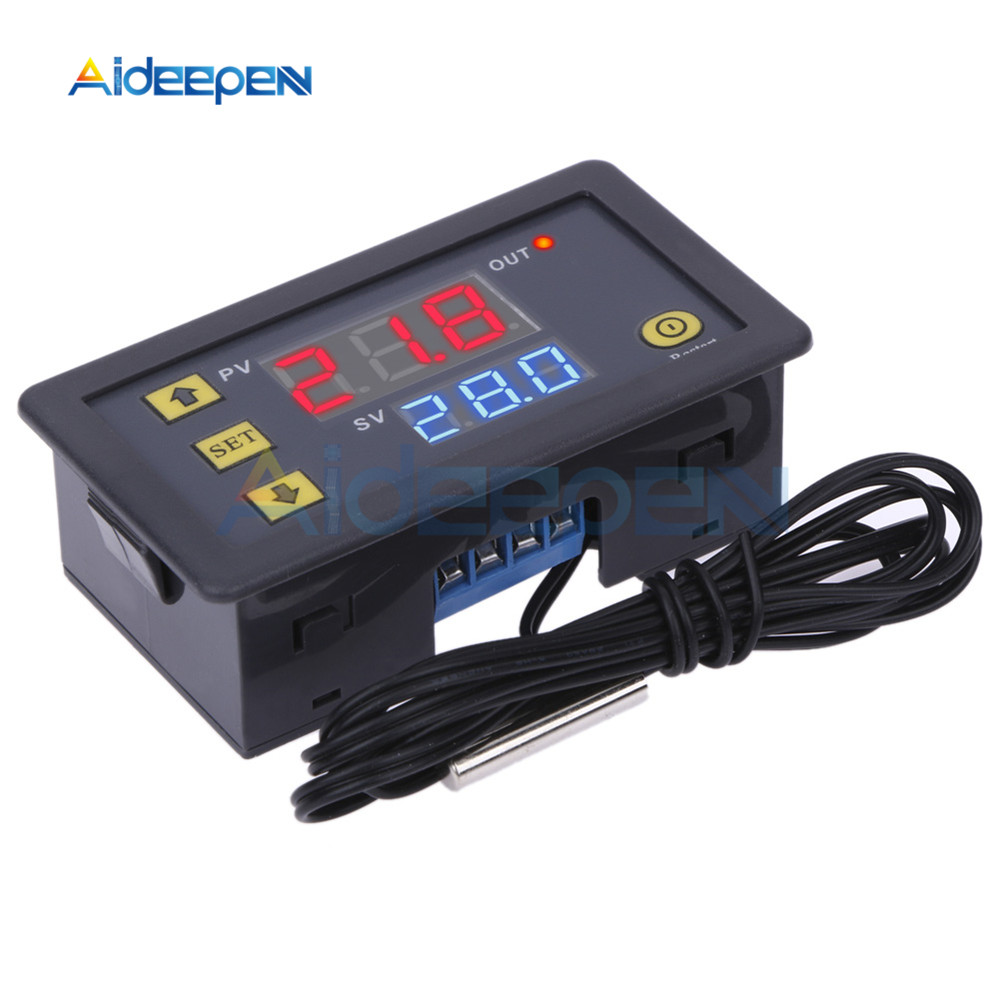 W3230 AC 110V-220V DC12V 24V Digital Thermostat Temperature Controller Regulator Heating Cooling Control Instruments LED Display(China)