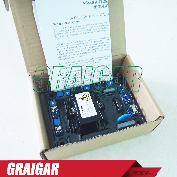 Brushless Generator AVR AS440 Gensets Auto Voltage Regulator for Stamford Engine AS440 стоимость