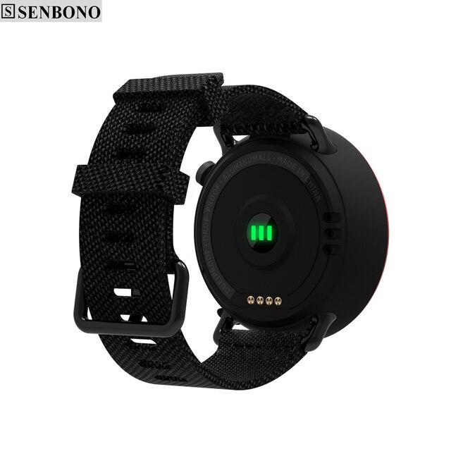 SENBONO L19 GPS Sport smart watch support fitness tracker Compass Height heart rate IP67 waterproof SMS Pushing 2
