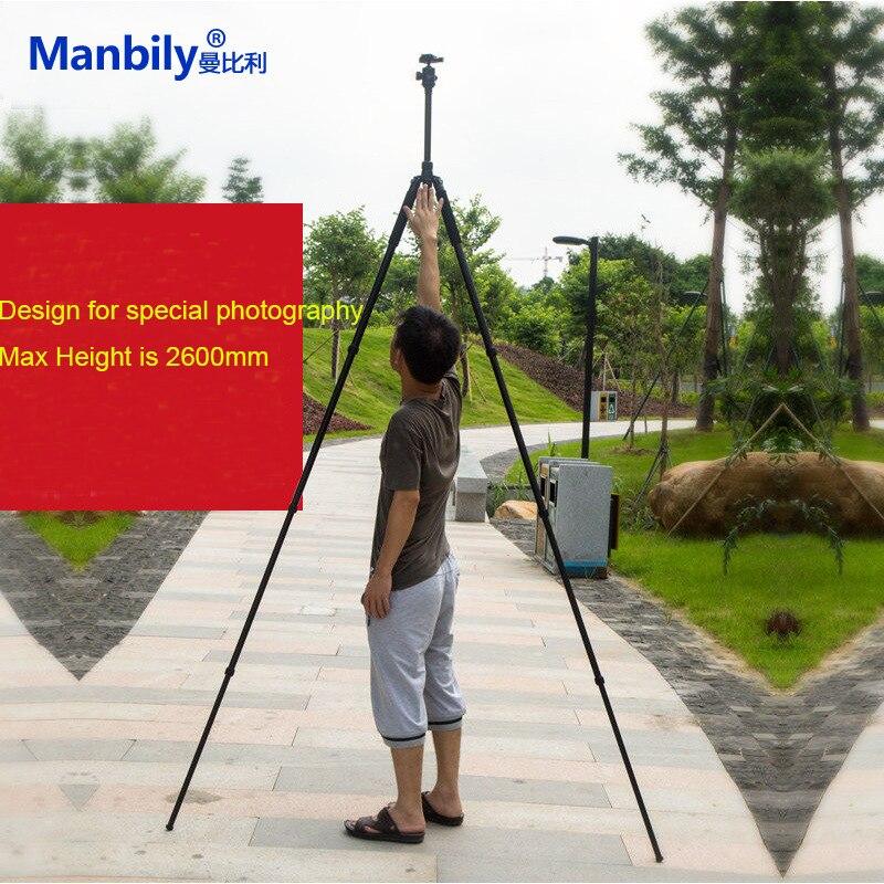 Manbily AZ380 Aluminium Pro Camera Tripod w KF0 Head QR Plate Highten 2 6m for Special