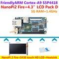 S5P4418 Quad Cortex-A9 NanoPi 2 Fogo Demo Board (400 MHz ~ 1.4 GHz 1 GB DDR3 RAM) + dissipador de calor + NanoPi S430 touch HD LCD = 2 Pacote De Fogo D