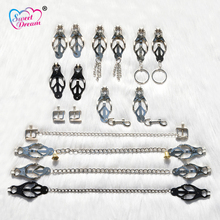 Sweet Dream 1 Pair Nipple Clamps Metal Chain BDSM Breast Adult Game Sex Tools for Sale Sex Toys for Woman Sex Products DW-084