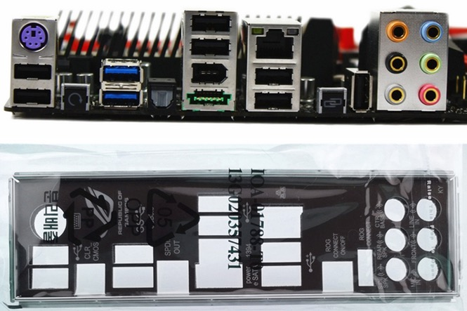 I//O Shield BACKPLATE For ASUS RAMPAGE III EXTREME Motherboard IO