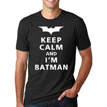 Gardez Le Calme Que Je Suis Batman 2016 D'été pp De Mode lettre coton T-Shirts de crossfit Hommes O-cou hip-hop t-shirt marque Tops homme(China (Mainland))