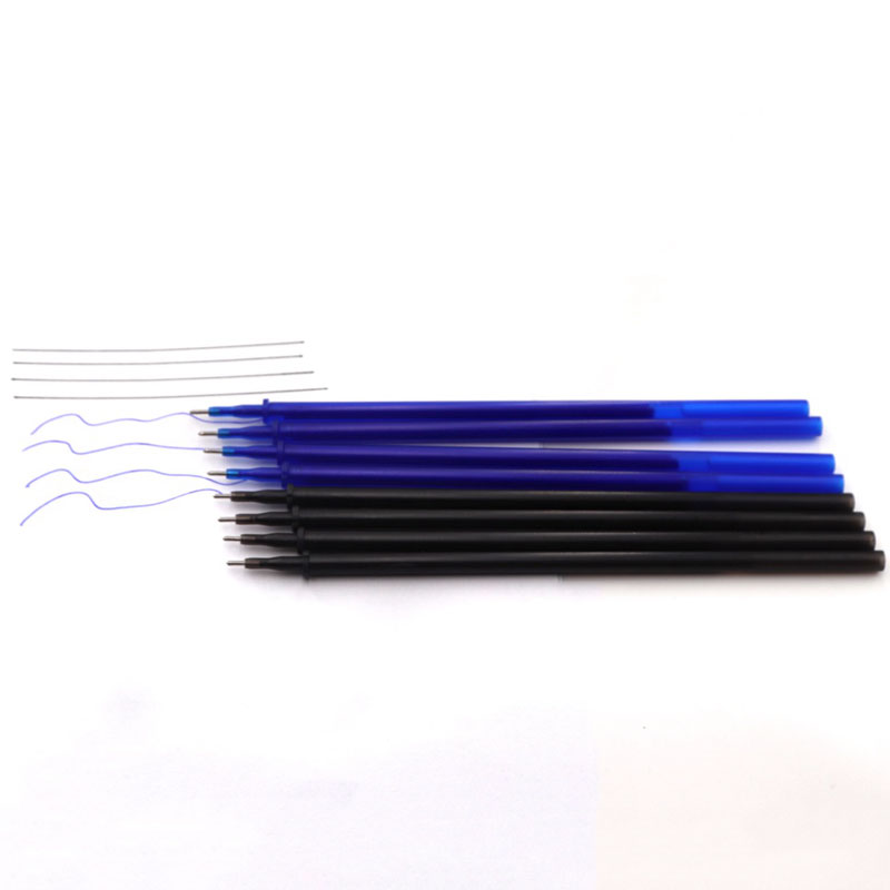12 20Pcs Set Gel Pen 0 5mm Erasable Washable Handle Erasable Pen Refill Rod Blue Black