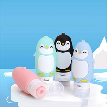 High Quality Silicone Refillable Bottles Cartoon Animal Modeling Squeeze Travel Bottle Portable Liquid Makeup Container