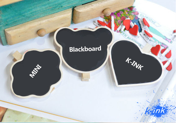 Mini Chalkboard With Clip For DIY Writing !  Wholesale Free Shipping ! ( Mini Cute Blackboard , Small Clipboard For Daily Memo)