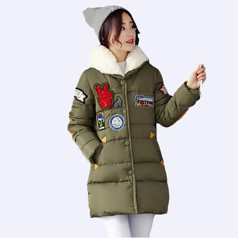 New 2018 Thick Women Parka Plus Size 3XL Winter Women Jacket Coat Ladies Down Cotton Jacket Snow Wear Fashion Female Outerwear