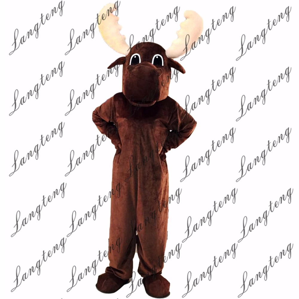 2018 New Hot Sale Deer Mascot Costume Adult Size Halloween Outfit Fancy Dress Suit Free Shipping