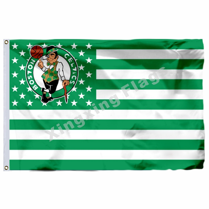 Boston Celtics Nation Flag 3ft X 5ft Polyester NBA1 Boston Celtics Banner Flying Size No ...