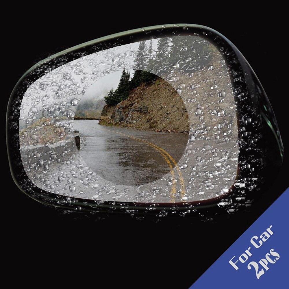 2Pcs Car Anti Fog Rainproof Rear View Mirror Window Protective Film 9.5cm in Diameter