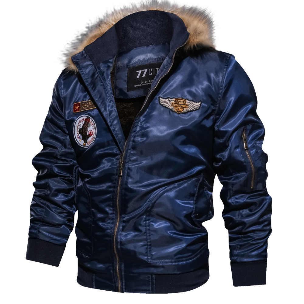Otoño Invierno chaqueta táctica militar para hombre chaquetas de bombardero de algodón de talla grande chaqueta de vuelo de carga prendas de vestir piloto de vuelo impermeable