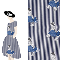2017 New DIY Cloth Fabrics Twill Cotton Printed Stripe Girl Cotton Fabric Handmade DIY Home Decor Woman Dress Material