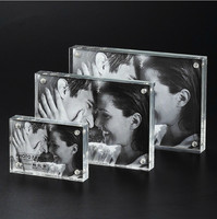 4x6 Inch Customize Transparent Acrylic Photo Frame Photo Frame Glass Display Card Photo Frame Crystal Table
