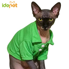 Cute stripped Sphynx Cat Polo shirt / 6 colors