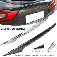 Rear Door Trim Rear Car Trunk Spoiler Cover Sticker Wing Styling for Nissan Qashqai Dualis J11 2014 2015 2016 2017